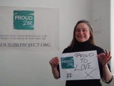 "Amy is ""Proud to love"""