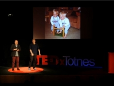 Jon & Mat speaking at TEDxTotnes | Oct 2015